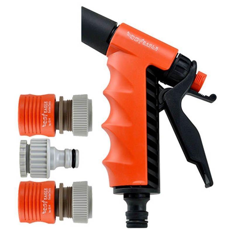 plastic garden sprayer nozzle+ spray gun set+PP and ABS +easy adjustable 2 watering pattern jet trigger pistol+EG-802A