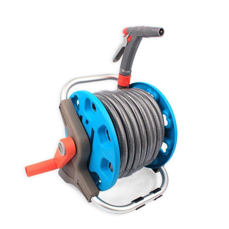 15 meter retractable pressure washer hose reel garage tool for car and garden watering agricultural irrigation+15m retractable