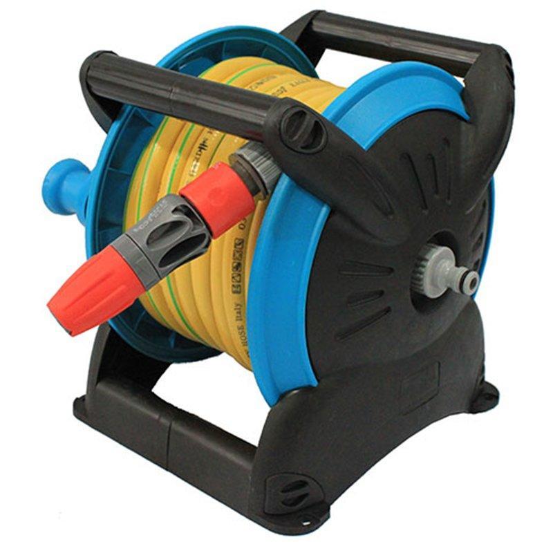 Stackable Compact Hose Reel cart for garden watering+Stackable Compact Hose Reel+PP and ABS+EG-6150