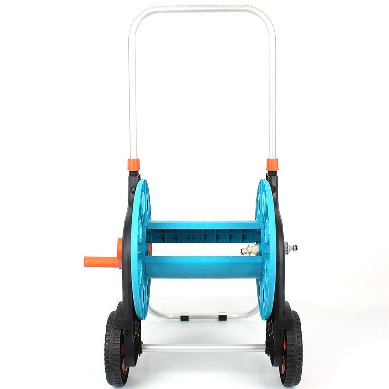 Telescopic handle detachable garden hose reel cart with two wheel +50 meter Thirty  Hose Reel car+PP and ABS+Aluminum tube+EG-62