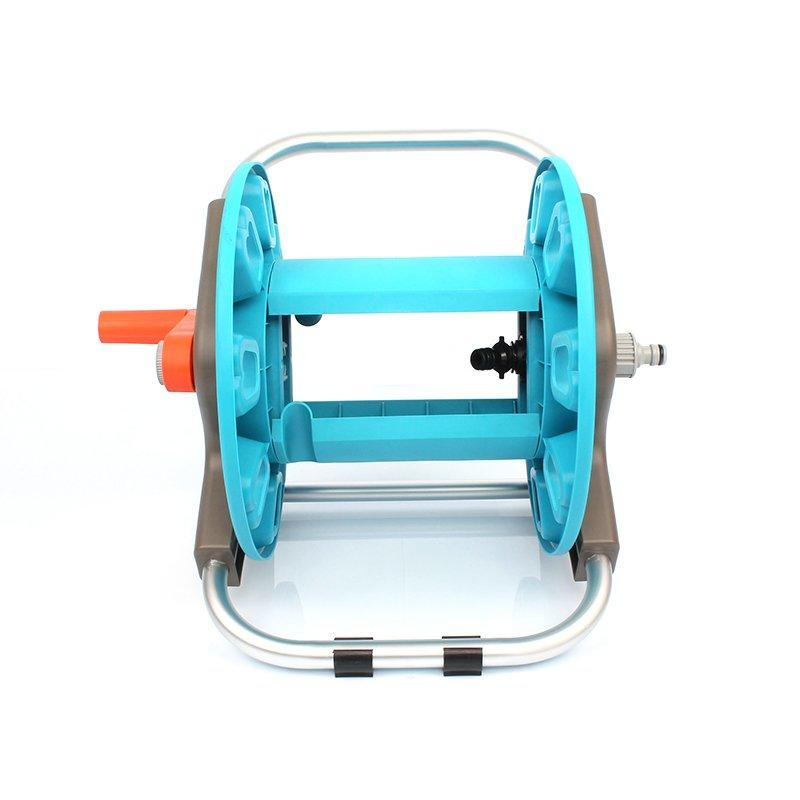plastic and aluminum garden hose reel rack with 30 meter half inch hose storation+hose reel car+PP and ABS+Aluminum tube+EG-3230