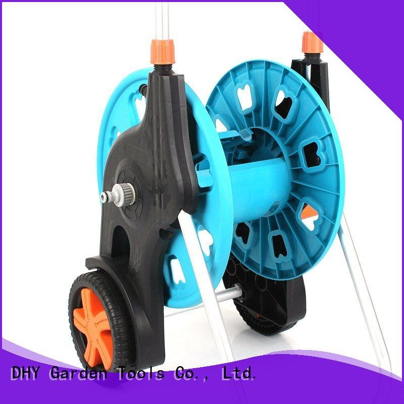 Telescopic handle detachable garden hose reel cart with two wheel +80 meter Thirty  Hose Reel car+PP and ABS+Aluminum tube+EG-62