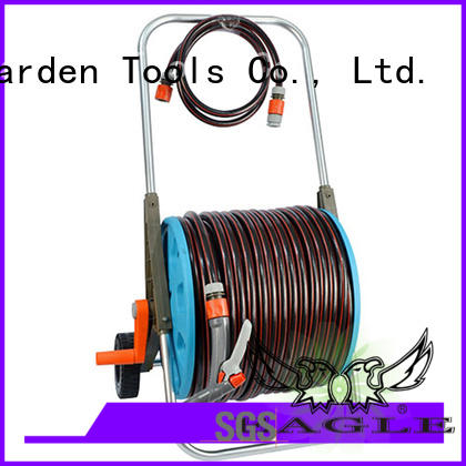 Quality Eagle Brand hose trolley 80m hose reel set